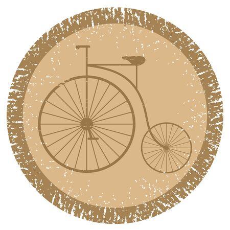 original bike: Vintage bicycle Illustration