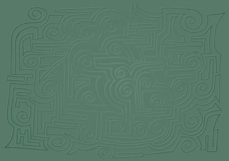 booming: Green texture Illustration