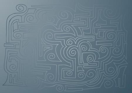 negotiating: Blue texture Illustration