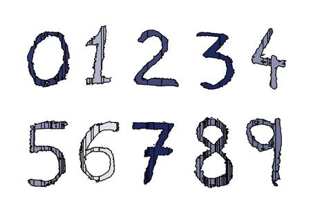 numerology: Kid numbers Illustration