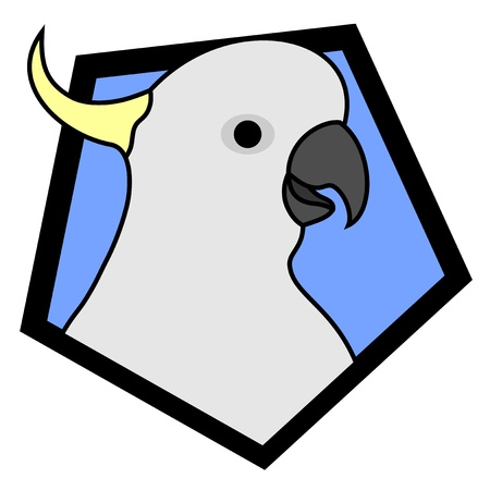 Cockatoo frame Vector