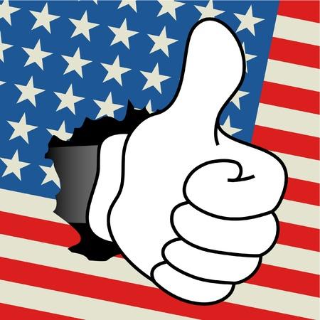 all right: American all right Illustration