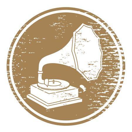 jukebox: Vintage gramophone Illustration