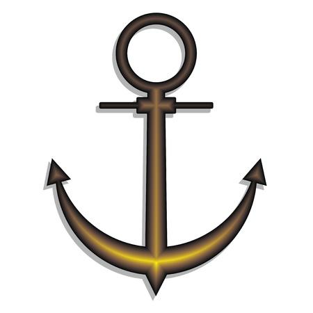 Gold anchor Stock Vector - 12969466