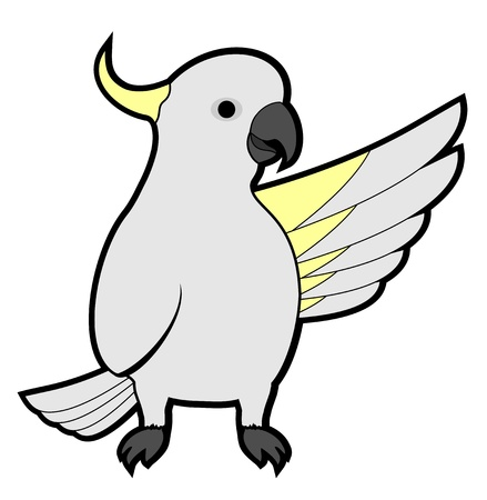 Kaketoe vriend Vector Illustratie