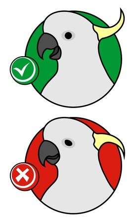 Like bird button Stock Vector - 12969379