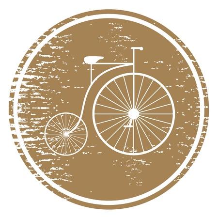 original bike: Old travel icon Illustration