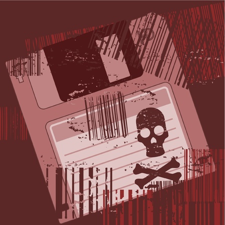 Terror pirate computer Stock Vector - 12969648