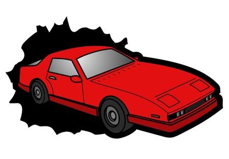 car speed: Speed red car