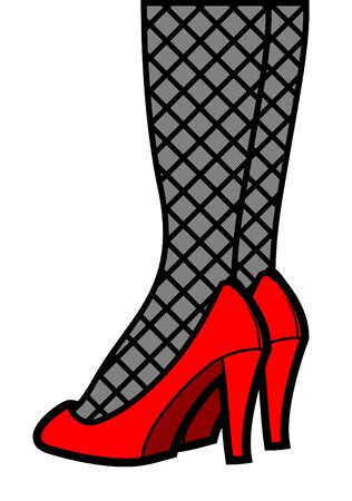 legs stockings: Female fashion legs Illustration