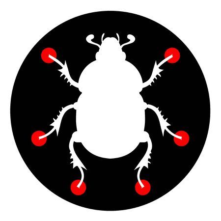 Science insect icon Stock Vector - 12969410