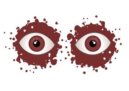 terror: Make up terror eyes Illustration