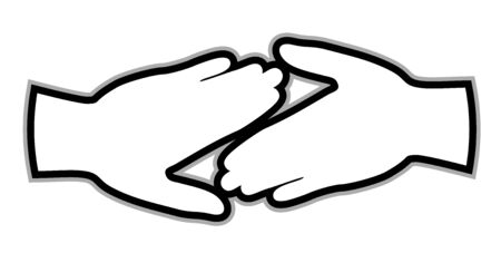 duo: Peace hands design Illustration