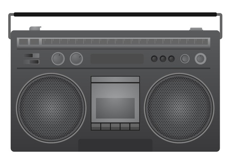 dissemination: Retro radio Illustration