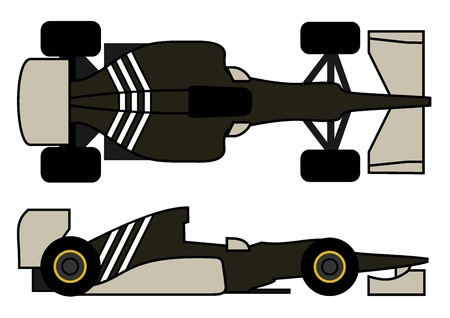 formula one: Racing formula car Illustration