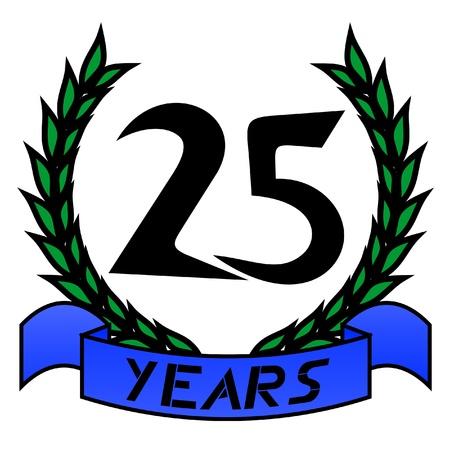 honoring: 25th emblem