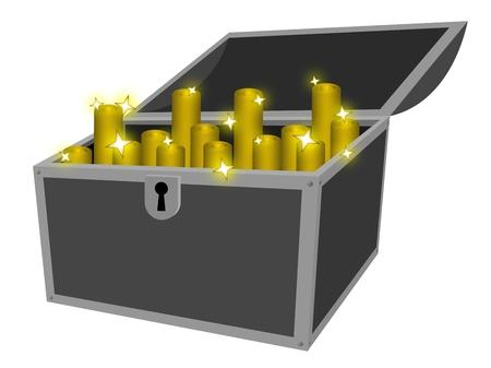 Golden treasure Stock Vector - 13219368