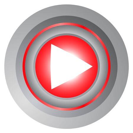 audiovisual: Tech play button