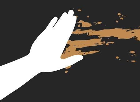Hand paint Stock Vector - 13221688