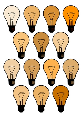 Many bulbs Stock Vector - 13319744