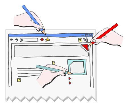 website window: Website art Illustration