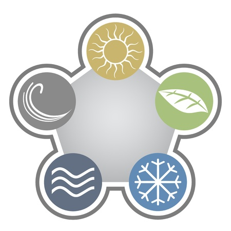 vida natural: Ecología signo Vectores