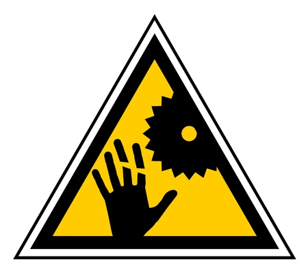 Saw hand danger Stock Vector - 13417788