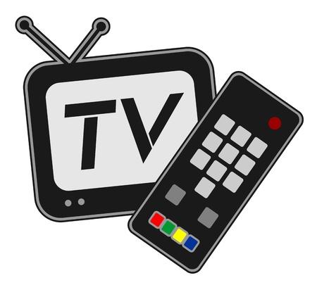 антенны: ТВ дизайн символа Иллюстрация