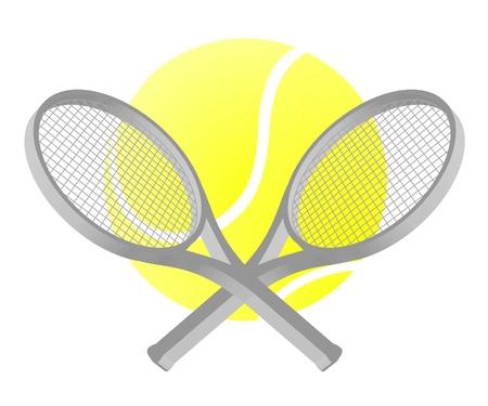 Tennis sport style Vector