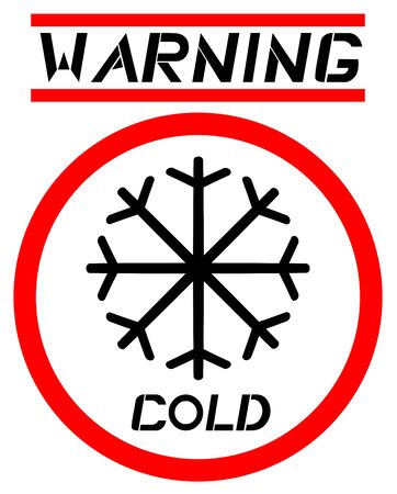 Warning cold Stock Vector - 13417794
