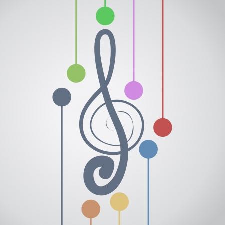 pentagrama musical: Música del arte del color