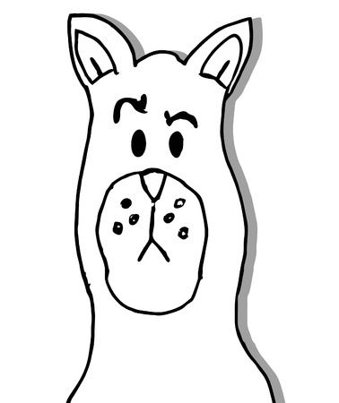 expressive style: White funny dog