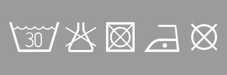 clothes label: Cloth washing symbols