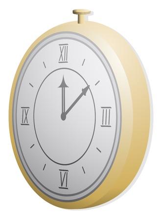 Golden clock Stock Vector - 13532483