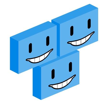 quadrant: Smiley cube faces