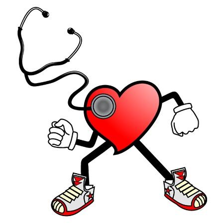 medical gloves: Cardiac heart illustration