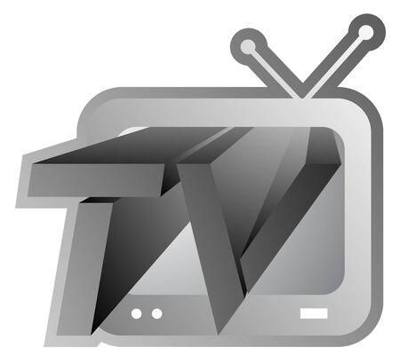 Original metallic tv Stock Vector - 13532462