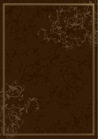 Elegant brown cover Vectores