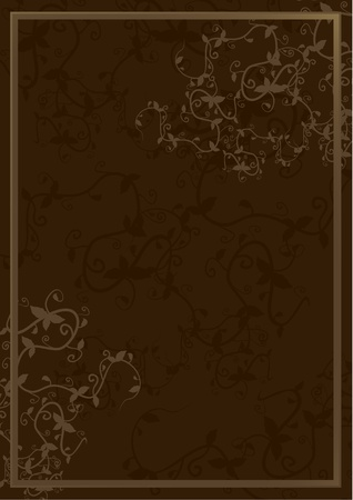 Elegant brown cover Stock Vector - 13532524