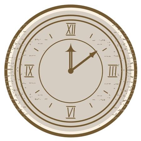 Vintage clock Stock Vector - 13532503