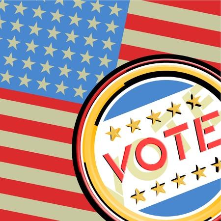 American vote Stock Vector - 13532498