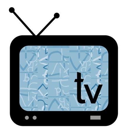tele: TV media Illustration