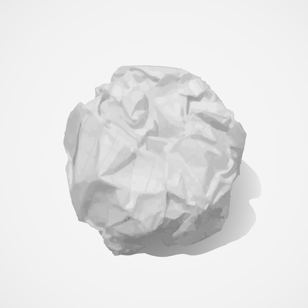 crumpled paper ball: Paper ball Illustration