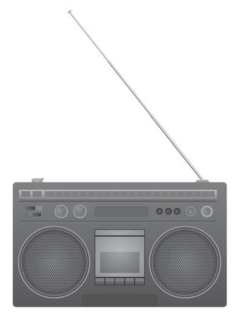 am radio: Retro radio Illustration