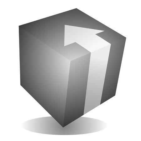 Cube arrow art Vector