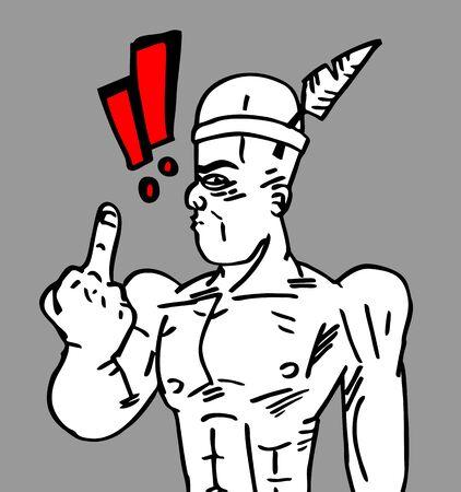 insulto: Dibujos animados hombre expresivo