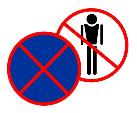 forbidden to pass: No people