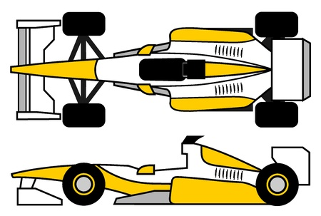 car side view: Tech car Illustration
