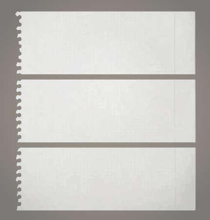 Three vintage papers Vector