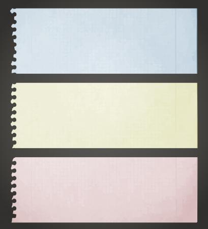 色の紙のスタイル